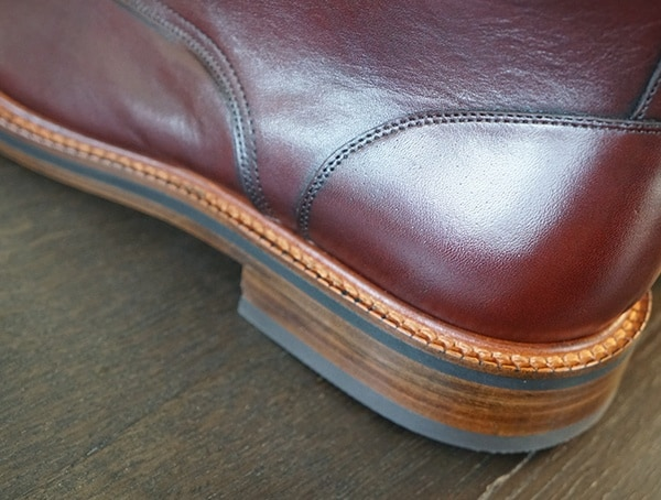 Resoleable Leather Soles Beckett Simonon Dowler Cap Toe Boots Heel Detail