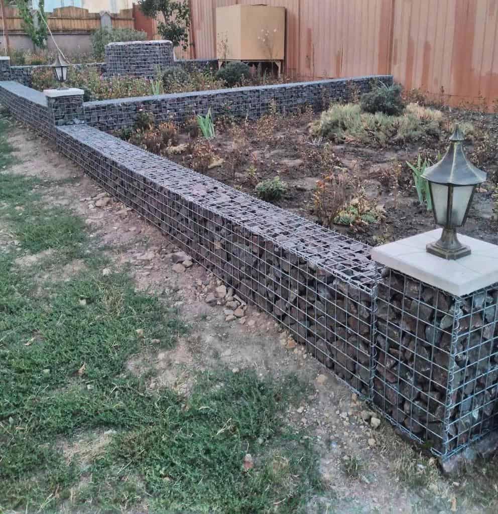 retaining wall garden edging ideas gabion.md