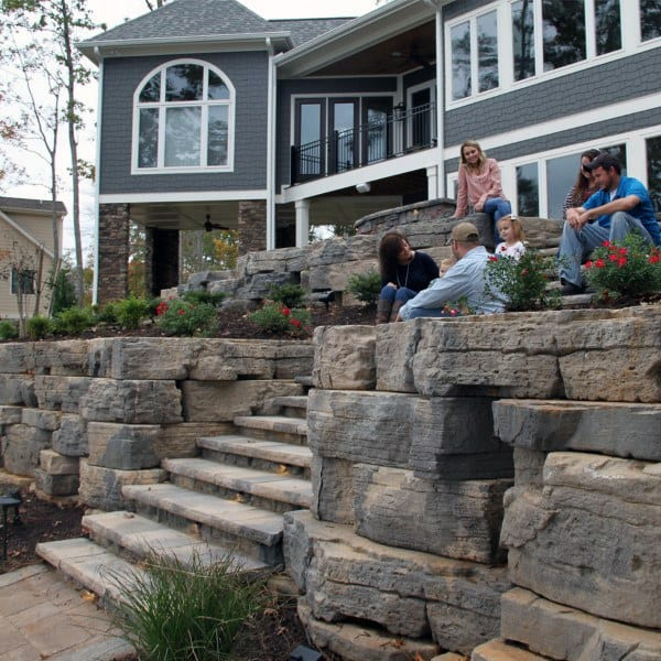 Retaining Wall Stairs Ideas