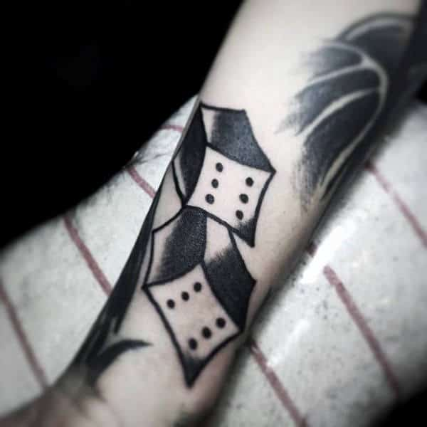 Retro Abstract Dice Tattoo Design Inspiration For Gentlemen