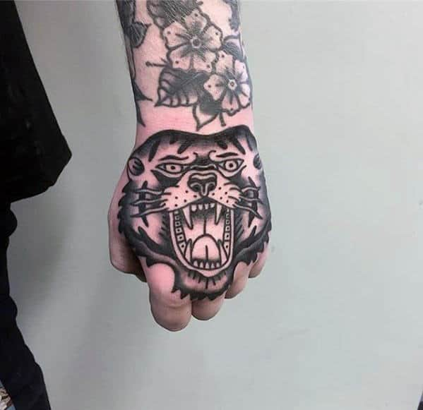 Retro Bear Guys Traditional Old School Hand Tattoo Inspiration