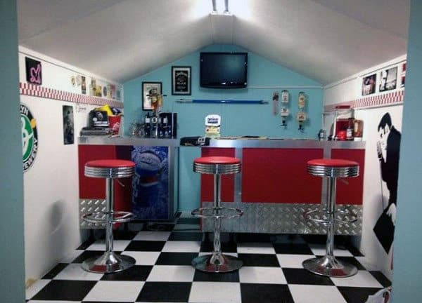 Retro Decor Shed Bar Ideas
