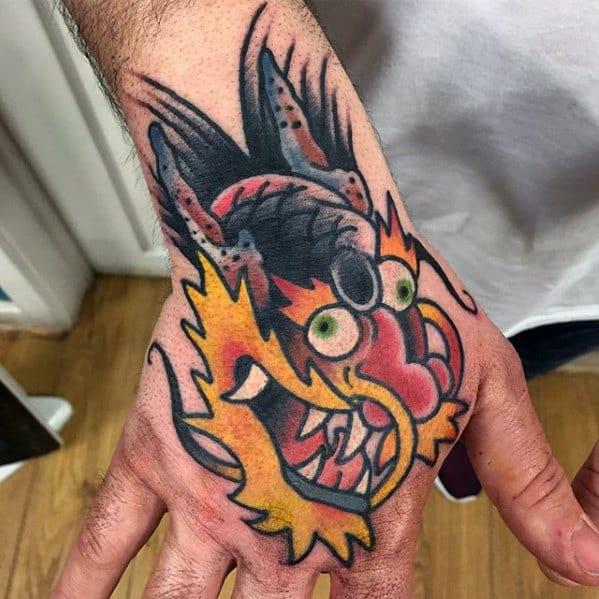 7e4d82334 50 Small Dragon Tattoos For Men - Fire-Breathing Design Ideas