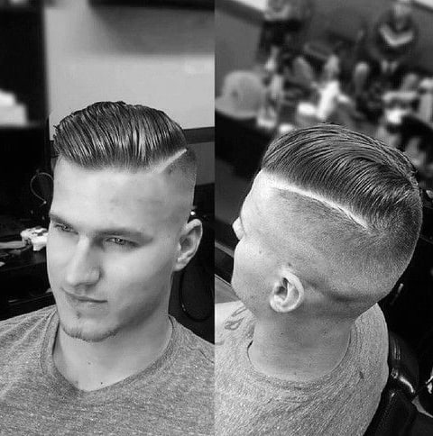 Retro Hard Part Guys Hair Ideas