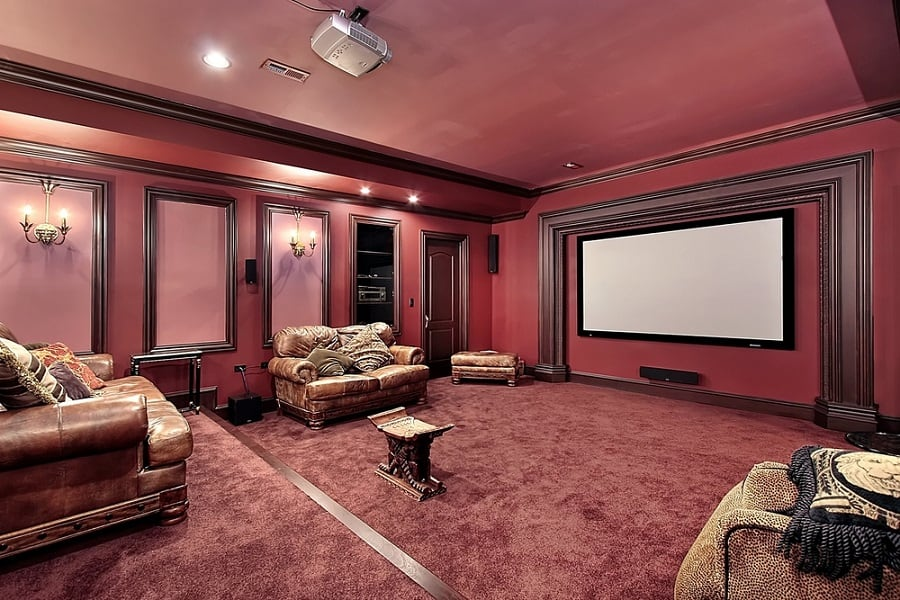 Designs Home Theater Seating Leather