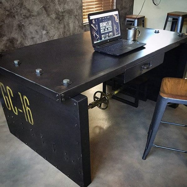 Retro Industrial Small Home Office Ideas