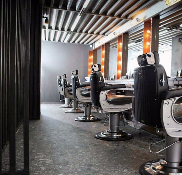 Retro Metal Industrial Barber Shop Designs