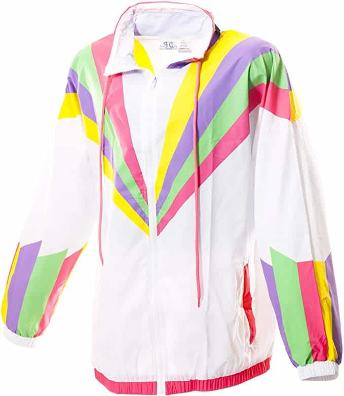 retro neon windbreaker