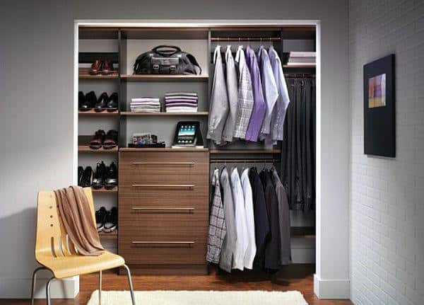 Retro Small Male Closet Space Design