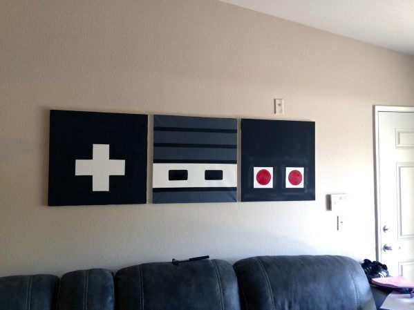 Retro Video Game Wall Art Diy Man Cave Ideas