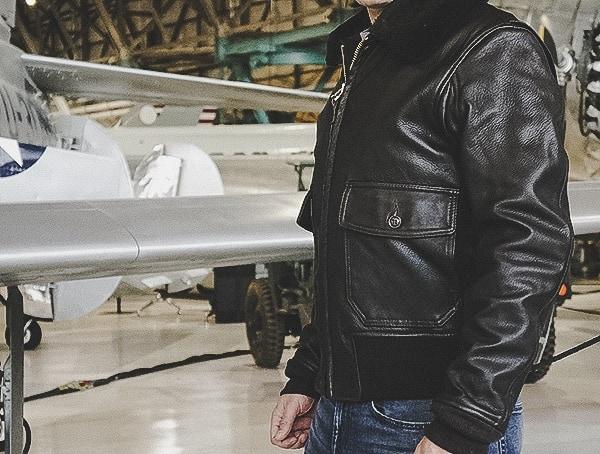 Review Goatskin Genuine Leather Brown Leather G 1 Flight Jackets For Men Cockpit Usa