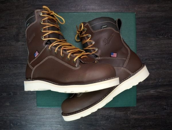 Review Mens Danner Quarry Brown Alloy Toe Wedge Boots