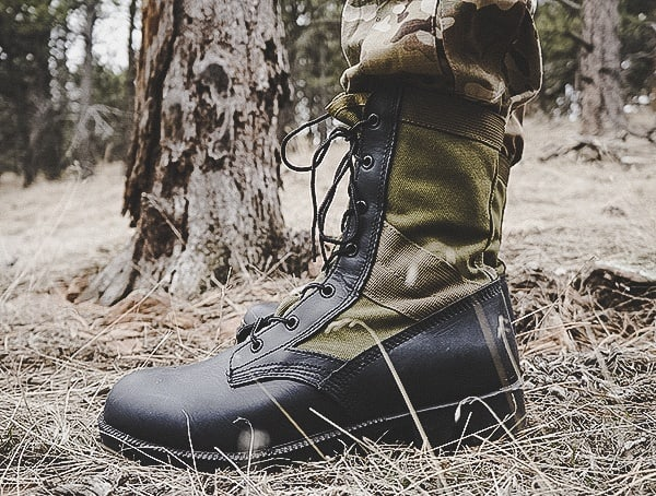 Review Od 30 Footwear Olive Green Jungle Boot Side
