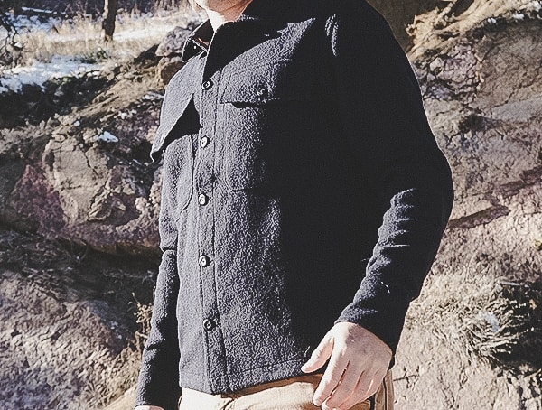 Review Side Topo Designs Navy Wool Shirts For Men