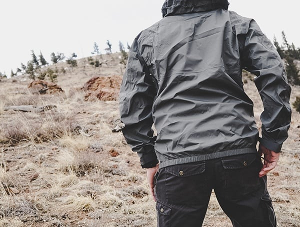 Reviewed Manatee Grey Mens Beyond Clothing K6 Arx Rain Jacket