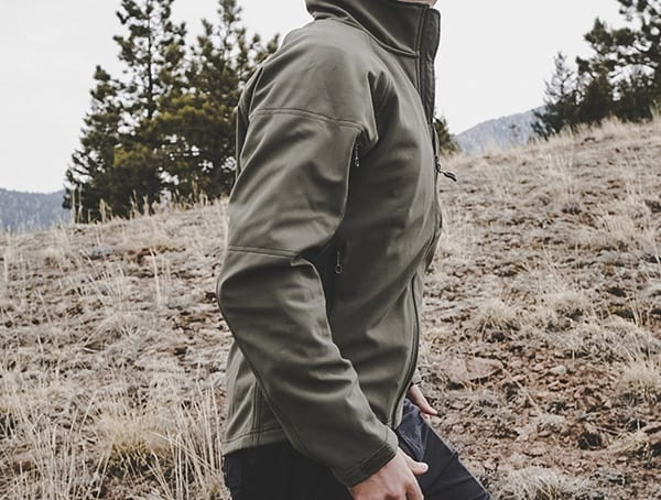 Reviewed Mens Rustic Green Beyond Clothing Testa Shoftshell Jackets