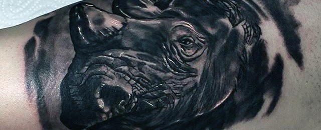 Rhino Tattoo Designs For Men