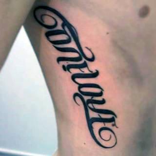 Rib Cage Ambigram Male Tattoos