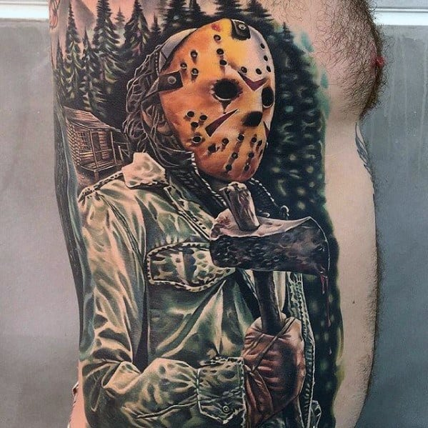 60 jason mask tattoo designs for men friday the 13th ideas for Friday the 13th tattoo specials near me