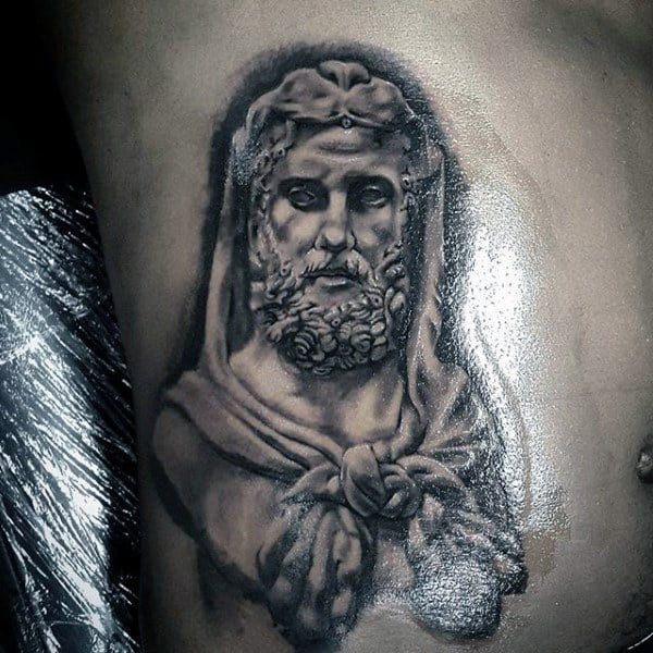 Rib Cage Side Hercules Guys Tattoos