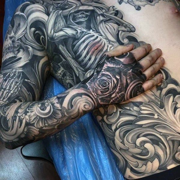 Rib Cage Side Of Body Greatest Male Tattoo Designs