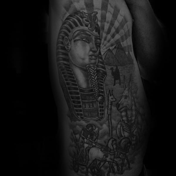 Rib Cage Side Of Body Male King Tut Tattoos