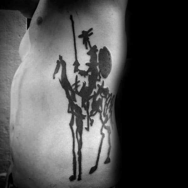 Rib Cage Side Of Body Male Pablo Picasso Tattoo Design Inspiration