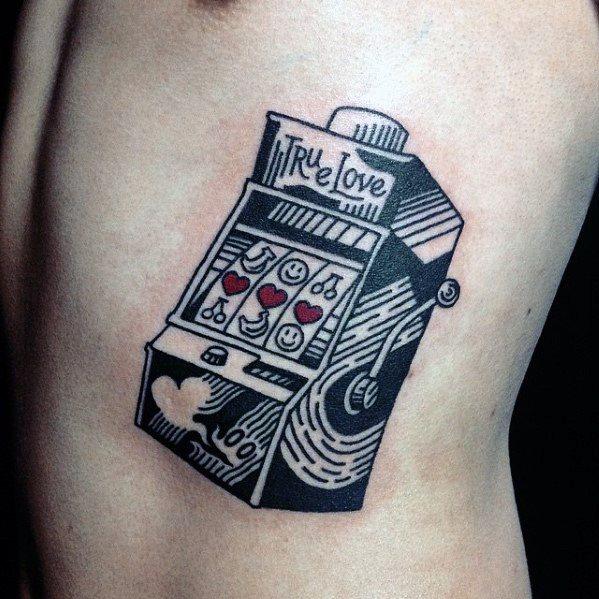 Rib Cage Side True Love Slot Machine Male Tattoos