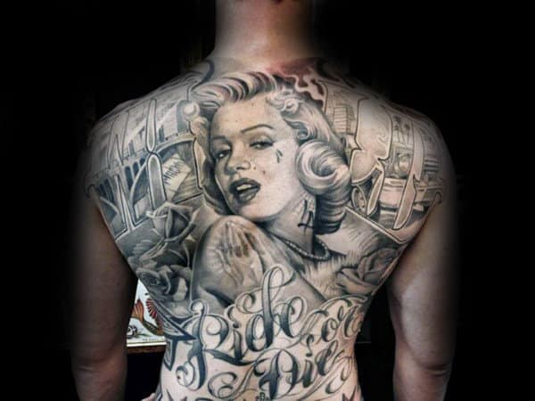 Ride Or Die Guys Chicano Back Tattoos