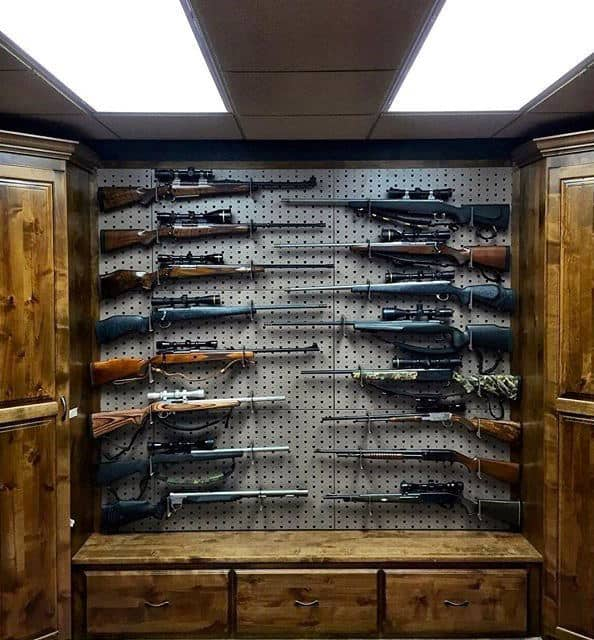 Rifle Display In Gun Room