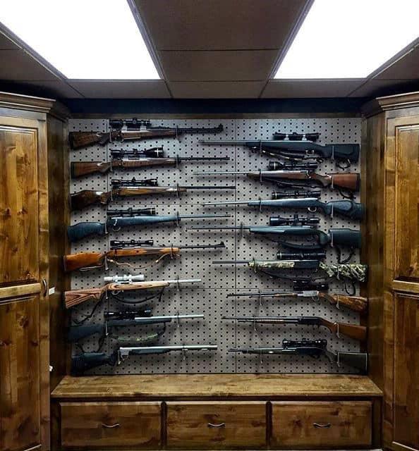 Rifle Display In Gun Room