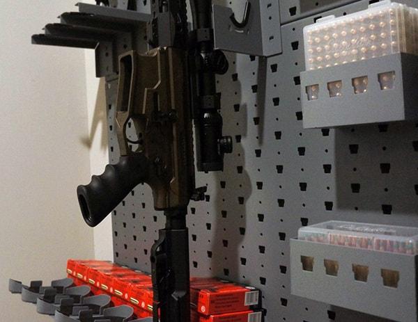 Rifle Hangers Gallow Tech In Gun Safe Room