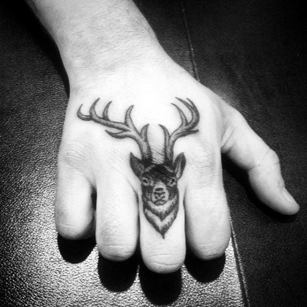 Ring Finger Tattoo Designs For Men Of Deer