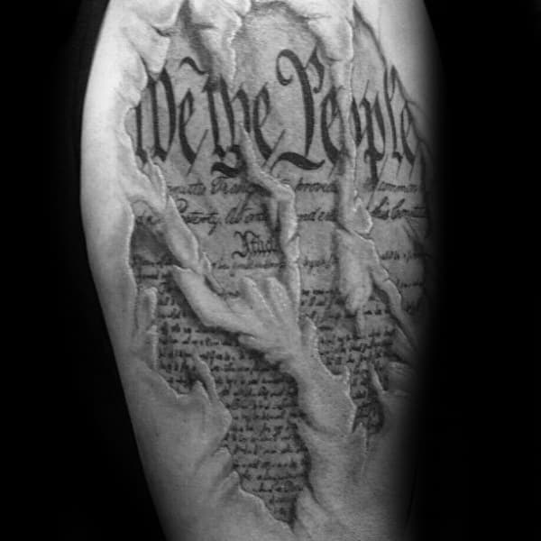 Ripped Skin We The People Mens Arm Tattoo