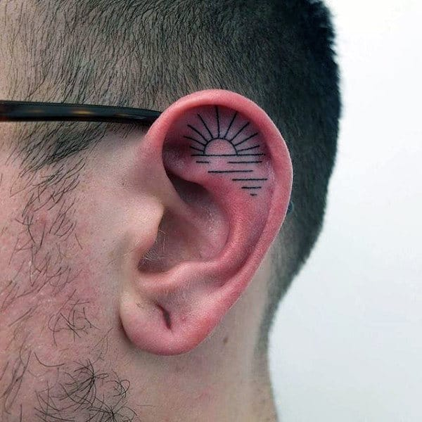 100 Ear Tattoos For Men - Inner And Outer Design Ideas