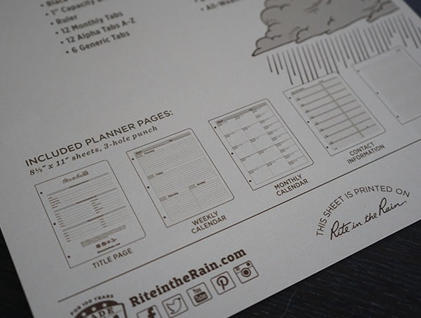 Rite In The Rain Field Planner Kit Included Pages