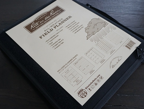 Rite In The Rain Field Planner Kit
