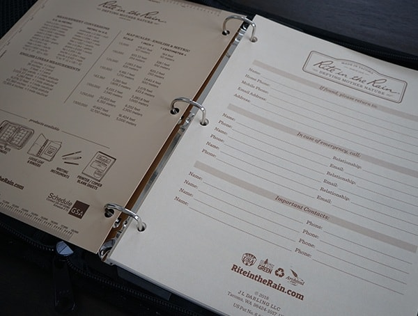 Rite In The Rain Maxi Field Planner With Pages Added