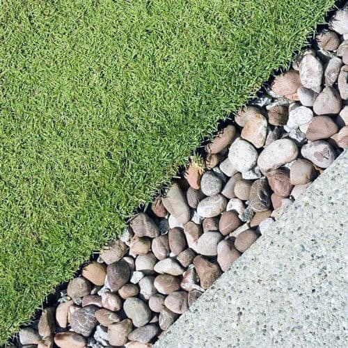 River Rock Exterior Ideas For Stone Edging