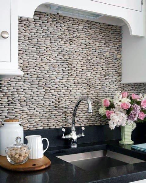 Ý tưởng thiết kế tường đá xếp chồng lên nhau