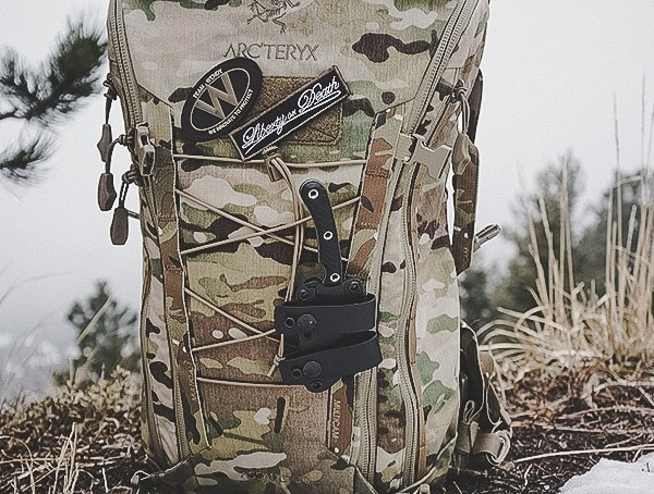 Rmj Tactical Coho Knife Mounted To Multicam Tactical Backpack Review