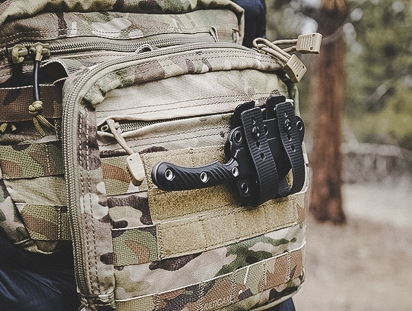 Rmj Tactical Coho Knife Review Mounted On Chest Pack