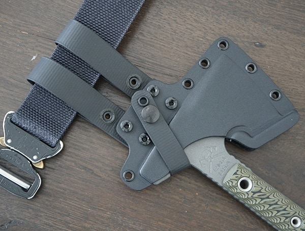 Rmj Tactical Jenny Wren Hammer Poll With Kydex Sheath Attached To Belt