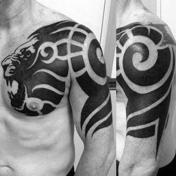 50 animal tribal tattoos for men masculine design ideas. Black Bedroom Furniture Sets. Home Design Ideas