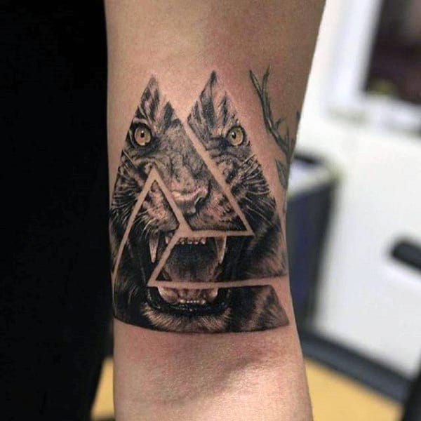 90 triangle tattoo designs for men manly ink ideas. Black Bedroom Furniture Sets. Home Design Ideas