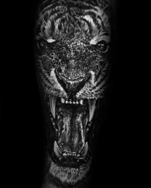 Roaring Tiger Sleeve Mens Coolest Tattoos