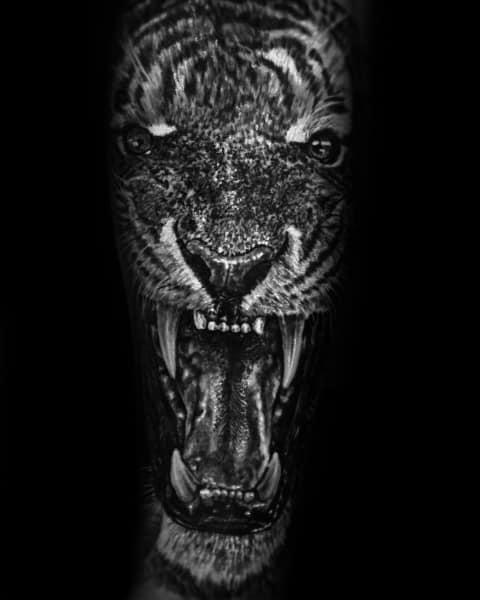 Roaring Tiger Sleeve Mens Coolest Tattoos
