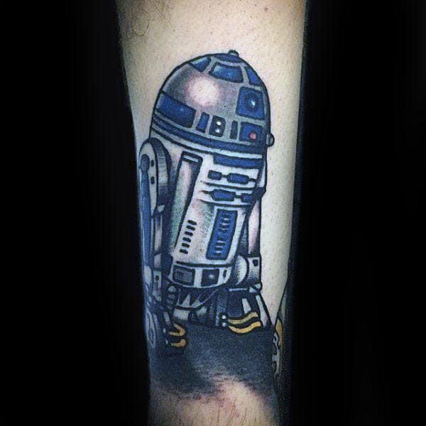 Robot Rd2d Forearm Tattoos For Guys