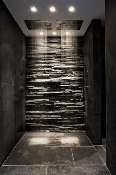 natural stone tile / slate tiles bathroom floor tile ideas