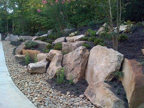 Rock Boulder Slope Landscaping Design